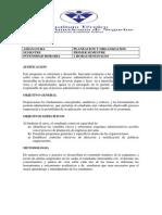 Plan de Planeación y Organización