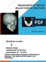 Management of Various Mandibular Condyle Fractures 1
