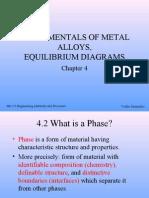 FUNDAMENTALS OF METAL ALLOYS,EQUILIBRIUM DIAGRAMS
