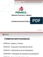 Reunion Instructores - Formatos