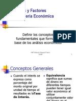 Fórmulas y Factores