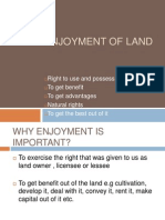 Enjoyment of Land