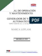 Manual Generador de Vapor 509 a 7,0 Kg
