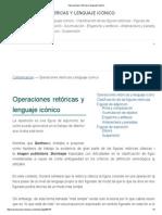 Operaciones Retóricas y Lenguaje Icónico