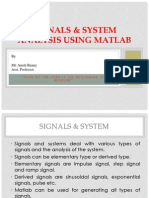Signals & System Using Matlab - RIT Pampady