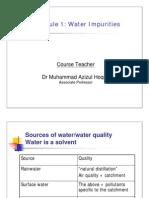 Module 1_water Impurities