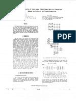 Analysis of non ideal matrix converter circuit design with dq tranformation