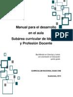 Manual Identidad y Profesión Docente 5to.