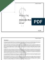 Project Taj Information Memorandum May'09