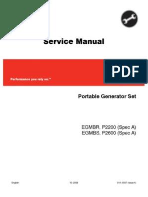 GGEE P2200 P2600 Onan Service Manual | Gasoline | Internal