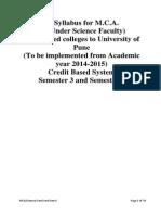 S.Y.MCA(Sci) syllabus of UniPune