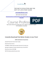 Penn Foster 986719 Evolution and the Diversity of Life Study