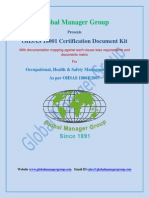 OHSAS 18001 Certification Documents