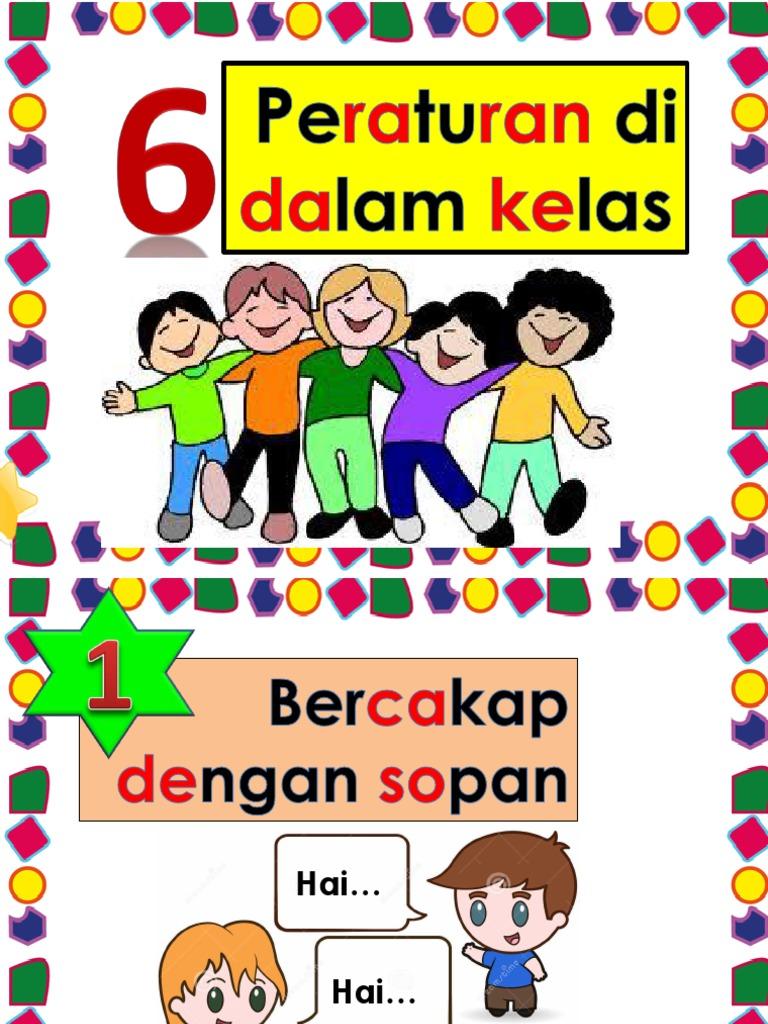 6 Peraturan Dalam Kelas