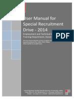 User Manual Special Recruitment Drive - 2014