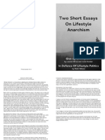 Lifestylism Essays BOOKLET