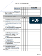 Construction Site Checklist Pg.1 10
