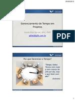 MBA Gestão de Projetos FGV_Gerenciamento de Tempo_fev13_P