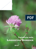 Traiettorie Sulla Linguistica Giuridica 9788891150288 864412