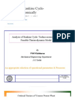 Analysis of Rankine Cycle- Techno-Economically