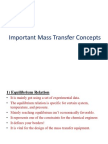 Important Mass Transfer Concepts