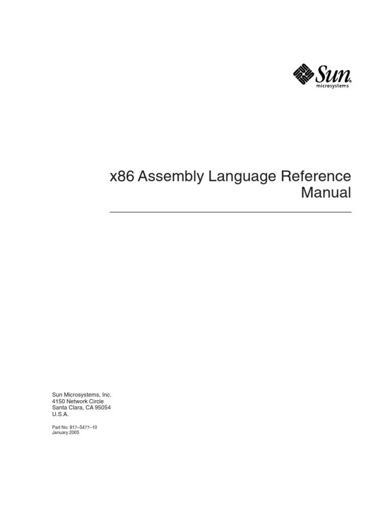 x86 assembly language reference manual assembly language rh scribd com x86 assembly reference manual intel x86 asm manual