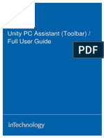 Unity PC Assistant (Toolbar) - Full User Guide January 2012.pdf