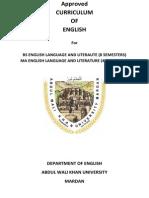 English Main MA and BS Courses
