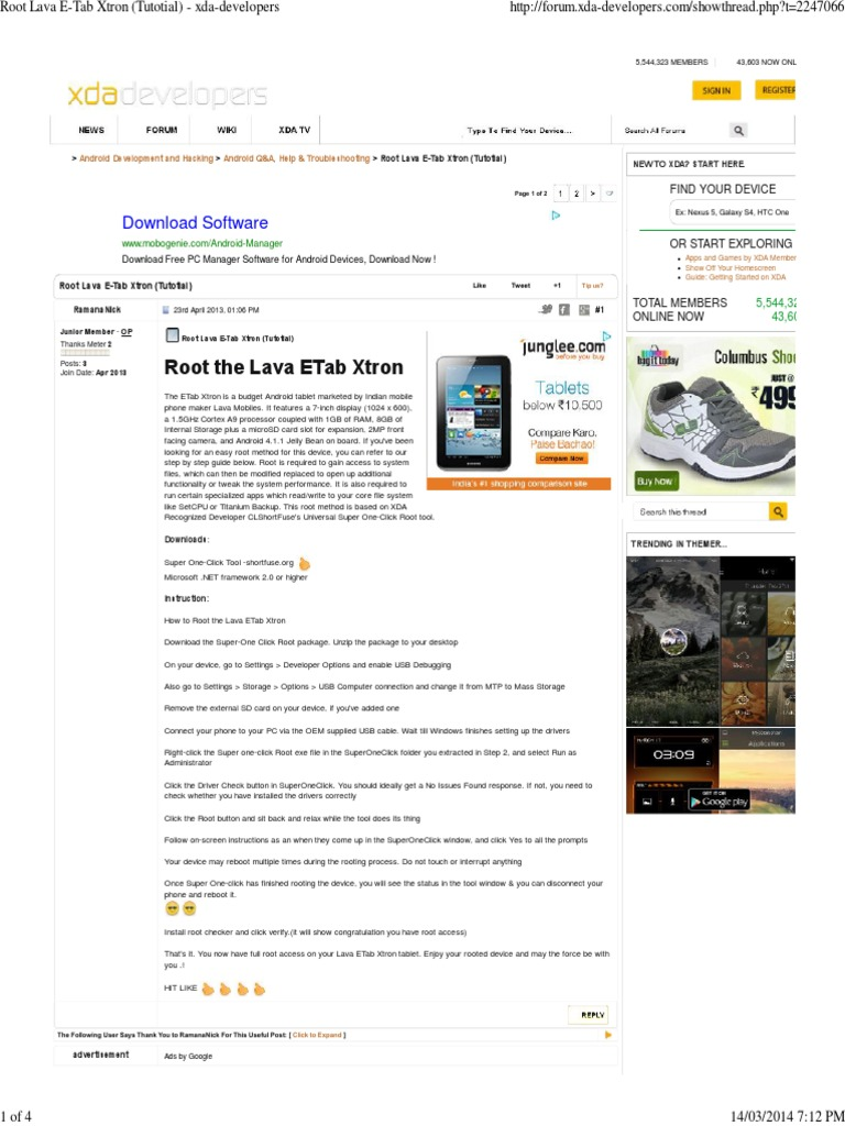 Root Lava E-Tab Xtron (Tutotial) - Xda-Developers | Android