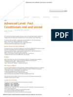 Advanced Level_ Past Conditionals Real and Unreal _ Learn English