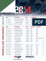 2014 Patriots Schedule