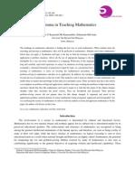 DILLEMA in TEACHING MATHEMATICS (Md Kamaruddin, Nafisah Kamariah; Md Amin, Zulkarnain – Online Submission, 2012)