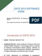 Gate 2015 Entrance Exam, Notification