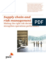 Supply Chain and Risk Management- ther PWC case