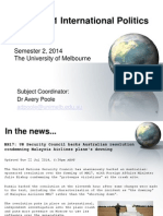 International Politics Lecture 1