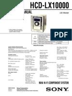 Sony Hcd-lx10000 Sm