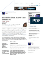 10 Lessons From a First-Time Tradeshow - Forbes