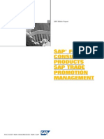 SAP for Consumer Products SAP Trade Promotion Management