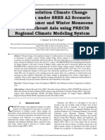 High Resolution Climate Change Projection under SRES A2 Scenario during Summer and Winter Monsoons over Southeast Asia using PRECIS Regional Climate Modeling System