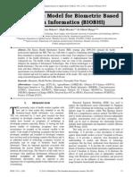 Acceptance Model for Biometric Based Health Informatics (BIOBHI)
