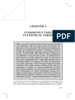 Commonly Used Statistical Terms