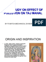 Case Study on Effect of Pollution on Taj Mahal