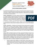 Contrato de Trabajo Agricola a Destajo Act 2014