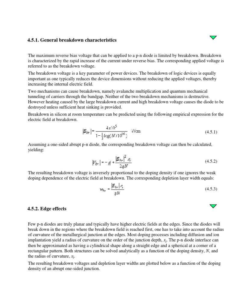 Zerner Diode Pn Junction Zener Breakdown Phenomen In Semiconductor