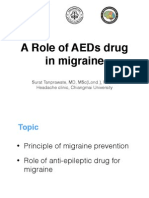 Role AEDs in Migraine prevention