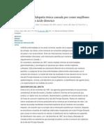 Acido Domoico y Reporte Caso