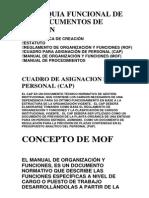 Jerarquia Funcional de Los Documentos de Gestion