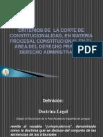 Criterios de La Corte en Materia Civil, Familia y Adtivo