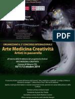 """Bando di concorso  internazionale a premi di """"Pittura e Scultura"""" - Quarto festival  """"Arte Medicina e Creatività, artisti in passerella"""""""