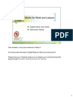 Digital Media for Work and Leisure Part 2 NOTES